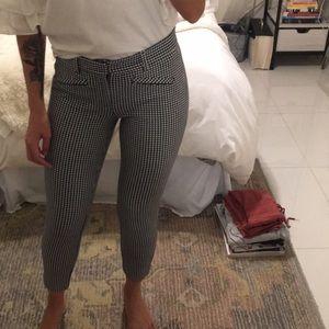 Gingham plaid skinny ankle pants